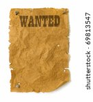 Wanted Poster Wild West Style...