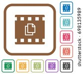 copy movie simple icons in... | Shutterstock .eps vector #698135989