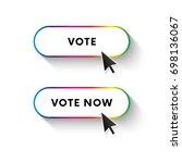 vote now button. vote button.... | Shutterstock .eps vector #698136067
