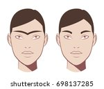 waxing hair on the face.... | Shutterstock .eps vector #698137285