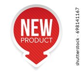 new product round label vector | Shutterstock .eps vector #698141167