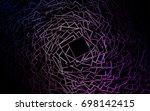 dark orange vector abstract... | Shutterstock .eps vector #698142415