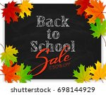 lettering back to school and... | Shutterstock .eps vector #698144929
