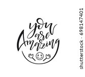 "hand drawn lettering ""you are... 