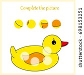 worksheet. complete the picture ... | Shutterstock .eps vector #698153251