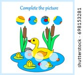 worksheet. complete the picture ... | Shutterstock .eps vector #698153281