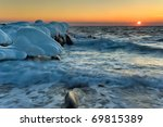 Sea  Winter Landscape. Far Eas...