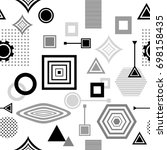 set  abstract seamless pattern...   Shutterstock .eps vector #698158435
