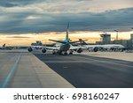 frankfurt  germany   aug 16 ...   Shutterstock . vector #698160247