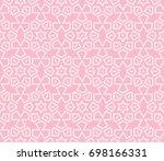 decorative seamless geometric...   Shutterstock .eps vector #698166331