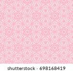 decorative seamless geometric...   Shutterstock .eps vector #698168419