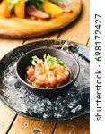 raw and fresh tuna tartare meat | Shutterstock . vector #698172427