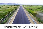 straight road from above | Shutterstock . vector #698175751