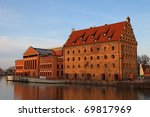 Former granary and the Baltic Philharmonic in Gdansk, Poland. - stock photo