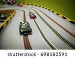 racing track for toy carts | Shutterstock . vector #698182591