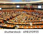 brussels  belgium   june 26 ... | Shutterstock . vector #698193955