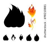 fire icon set. sign of the...   Shutterstock .eps vector #698210881
