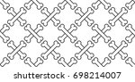 cross bone isolated dog bone... | Shutterstock .eps vector #698214007