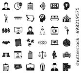 coherence in job icons set.... | Shutterstock .eps vector #698219575