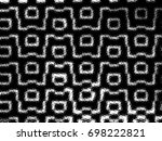 grunge halftone black and white.... | Shutterstock . vector #698222821
