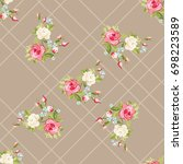 seamless floral pattern with...   Shutterstock .eps vector #698223589