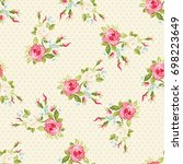 seamless floral pattern with...   Shutterstock .eps vector #698223649