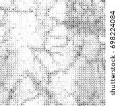 grunge halftone black and white.... | Shutterstock . vector #698224084