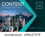 presentation layout design... | Shutterstock .eps vector #698227579