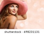 close up beautiful girl  young... | Shutterstock . vector #698231131