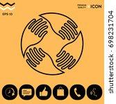 teamwork hands logo. human... | Shutterstock .eps vector #698231704
