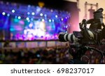 video production covering event ... | Shutterstock . vector #698237017