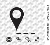 label for map icon stock vector ... | Shutterstock .eps vector #698237515