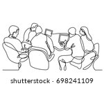 continuous line drawing of... | Shutterstock .eps vector #698241109