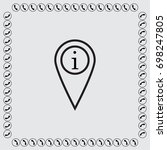 map pointer with information... | Shutterstock .eps vector #698247805