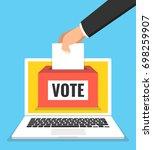 voting online concept. hand...   Shutterstock .eps vector #698259907