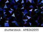 dark blue vector polygon...   Shutterstock .eps vector #698262055