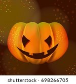 bright halloween pumpkin over... | Shutterstock .eps vector #698266705