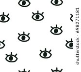 vector kids pattern. vector... | Shutterstock .eps vector #698271181