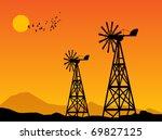 Wind Power Turbines And Sunris...