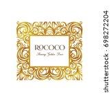 vector vintage frame  ornate... | Shutterstock .eps vector #698272204