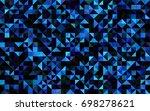 dark blue vector polygon...   Shutterstock .eps vector #698278621