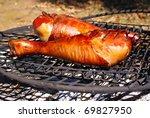 Grilled Smoked Turkey Legs