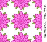 seamless pattern of pink... | Shutterstock .eps vector #698279611