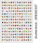 vector circle world flags with... | Shutterstock .eps vector #698282107