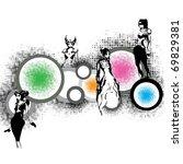 super party girls   Shutterstock . vector #69829381