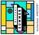 abstract geometric summer... | Shutterstock .eps vector #698293987