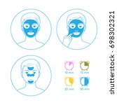 instructions for use face masks ... | Shutterstock .eps vector #698302321