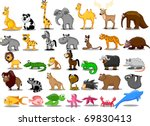 extra large set of animals... | Shutterstock .eps vector #69830413