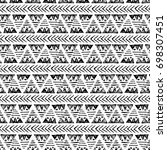 ethnic seamless pattern. hand... | Shutterstock . vector #698307451