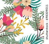 abstract elegance seamless... | Shutterstock .eps vector #698309011